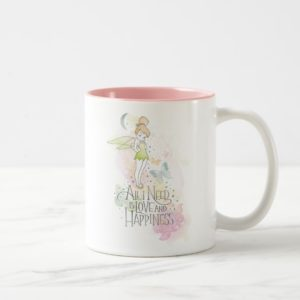 Tinker Bell Love And Happiness Two-Tone Coffee Mug