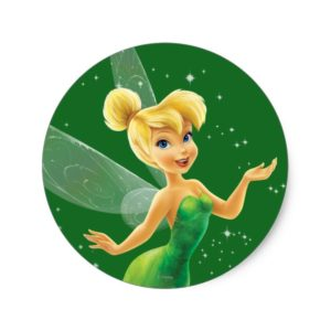 Tinker Bell  Pose 17 Classic Round Sticker