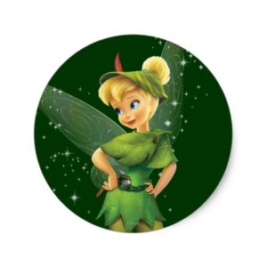 Tinker Bell  Pose 24 Classic Round Sticker