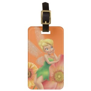 Tinker Bell Resting on Flowers Bag Tag