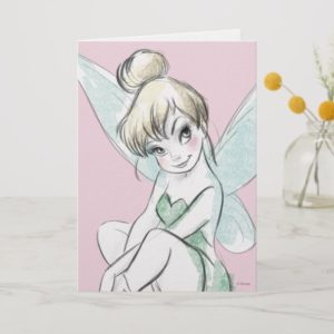 Tinker Bell | Sitting Pastel Card