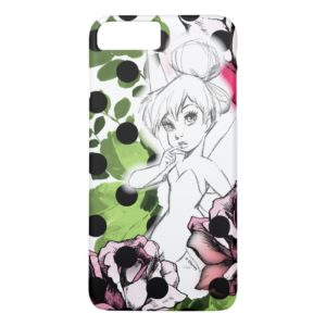 Tinker Bell Sketch With Roses and Polka Dots Case-Mate iPhone Case