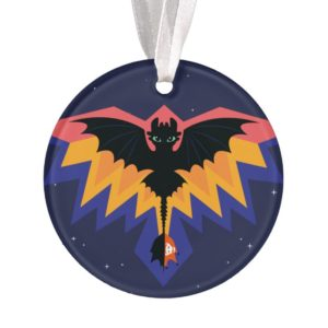 Toothless Colored Flight Graphic Ornament