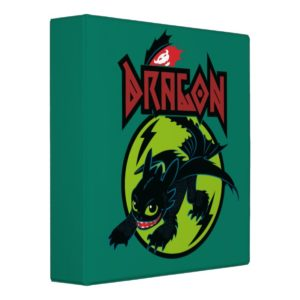 """Toothless """"Dragon"""" Runic Graphic 3 Ring Binder"""