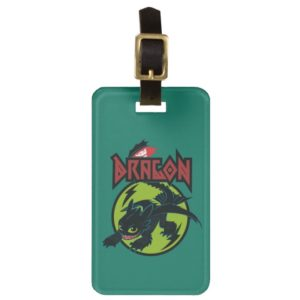"""Toothless """"Dragon"""" Runic Graphic Bag Tag"""