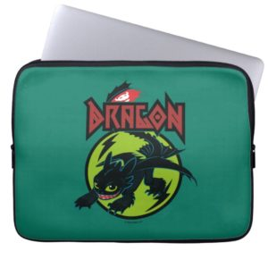 """Toothless """"Dragon"""" Runic Graphic Computer Sleeve"""