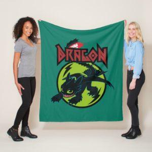 "Toothless ""Dragon"" Runic Graphic Fleece Blanket"