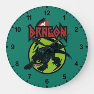 "Toothless ""Dragon"" Runic Graphic Large Clock"