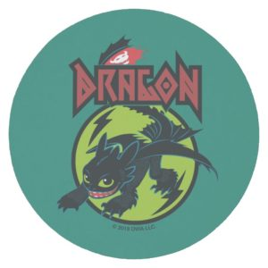 """Toothless """"Dragon"""" Runic Graphic Round Paper Coaster"""