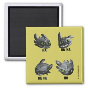 Toothless Face Expression Chart Magnet