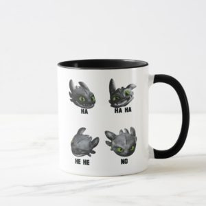 Toothless Face Expression Chart Mug