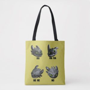 Toothless Face Expression Chart Tote Bag