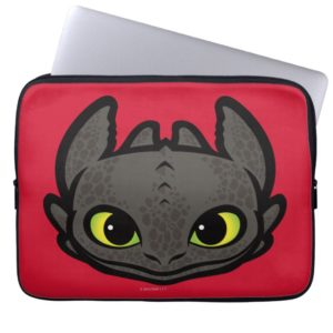 Toothless Head Icon Computer Sleeve