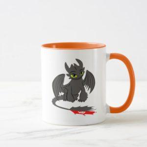 Toothless Sitting Illustration Mug