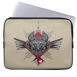Toothless Tribal Chain Emblem Computer Sleeve