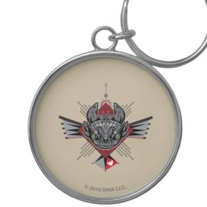 Toothless Tribal Chain Emblem Keychain