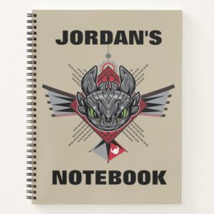 Toothless Tribal Chain Emblem Notebook