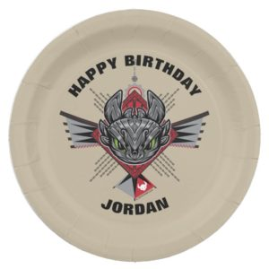 Toothless Tribal Chain Emblem Paper Plate