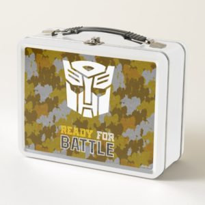 Transformers | Autobot Ready For Battle Camo Metal Lunch Box