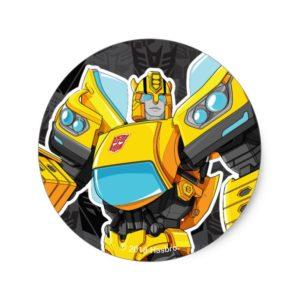 Transformers | Bumblebee 84 Camo Classic Round Sticker