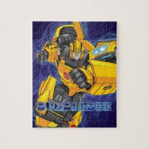 Transformers   Bumblebee Neon Lights Badge Jigsaw Puzzle