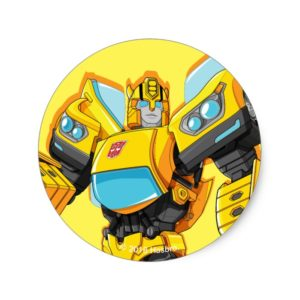 Transformers | Bumblebee Standing Pose Classic Round Sticker