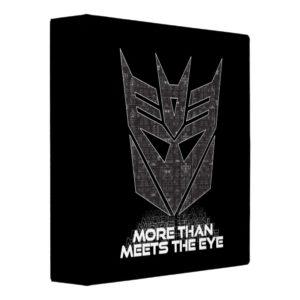 Transformers   Decepticon Shield Revealed 3 Ring Binder