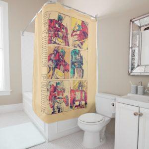 Transformers | Optimus Prime Comic Strip Shower Curtain