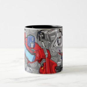 Transformers | Optimus Prime Fighting Megatron Two-Tone Coffee Mug