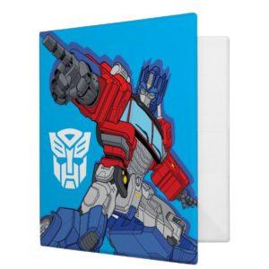 Transformers   Optimus Prime Pointing Pose 3 Ring Binder