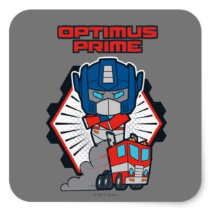 Transformers | Optimus Prime Returns Square Sticker