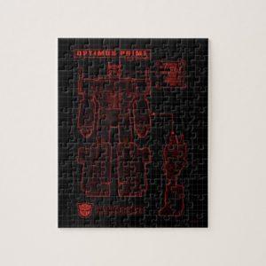 Transformers   Optimus Prime Schematic Jigsaw Puzzle
