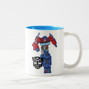 Transformers   Optimus Prime Walking Pose Two-Tone Coffee Mug