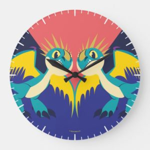 Two Deadly Nader Dragons Large Clock