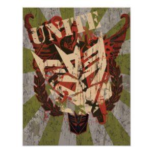 Unite - Decepticon Symbol Poster