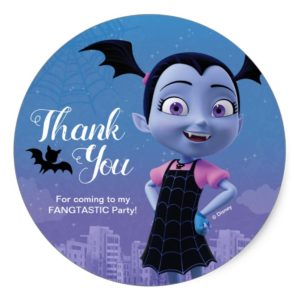 Vampirina | Birthday Thank You Classic Round Sticker