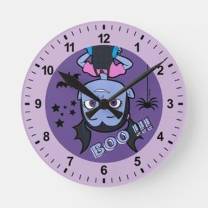 Vampirina   Boo Purple Badge Round Clock