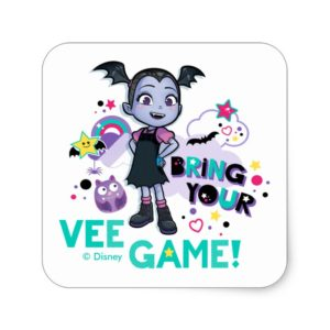 Vampirina | Bring Your Vee Game! Square Sticker