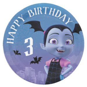 Vampirina   Happy Birthday Paper Plate