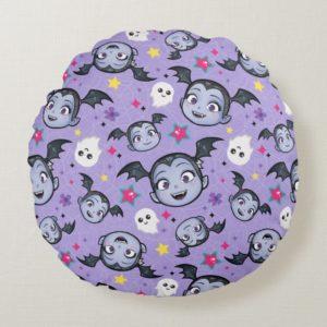 Vampirina   Super Sweet Purple Pattern Round Pillow