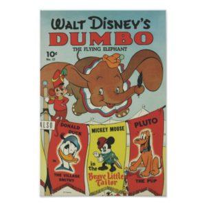Wald Disney's Dumbo The Flying Elephant Poster