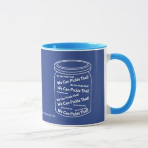We Can Pickle That! Blue And White Ringer Mug