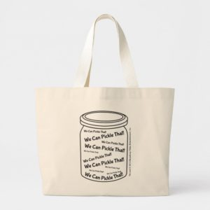We Can Pickle That! Natural Jumbo Tote