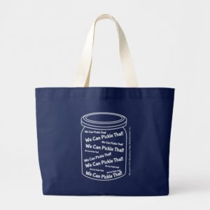 We Can Pickle That! Navy Blue Jumbo Tote