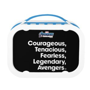 Avengers: Endgame | Avengers Adjective Typography Lunch Box