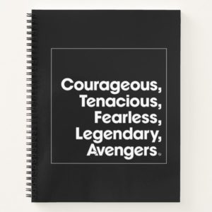 Avengers: Endgame | Avengers Adjective Typography Notebook