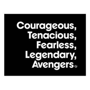 Avengers: Endgame | Avengers Adjective Typography Postcard