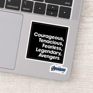 Avengers: Endgame | Avengers Adjective Typography Sticker