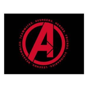 Avengers: Endgame | Avengers Attributes Logo Postcard