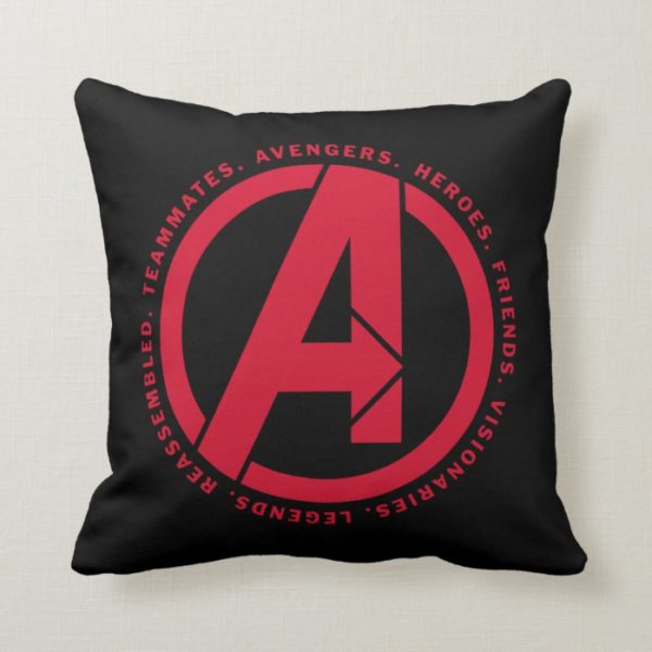 Avengers: Endgame | Avengers Attributes Logo Throw Pillow
